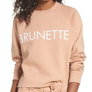 Brunette The Label Dusty Pink Raw Hem Sweater S/M